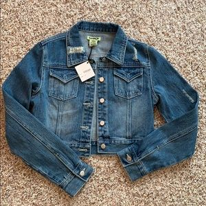 Brand New Kenzie Distressed Jean Jacket - Small